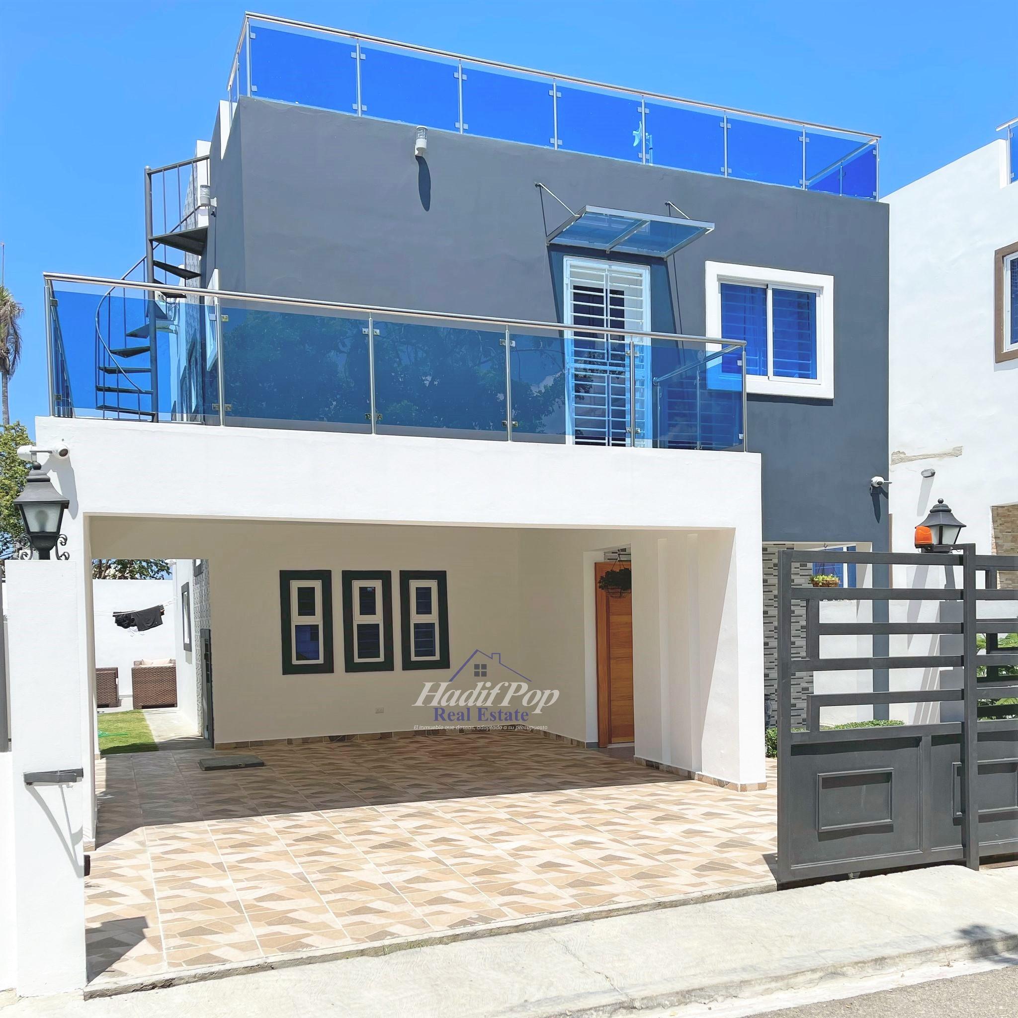 De venta nueva villa amueblada en residencial de Puerto Plata