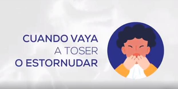 Recomendaciones al Toser para prevenir el Contagio del COVID-19