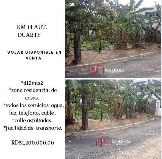 Solar Disponible  En Venta