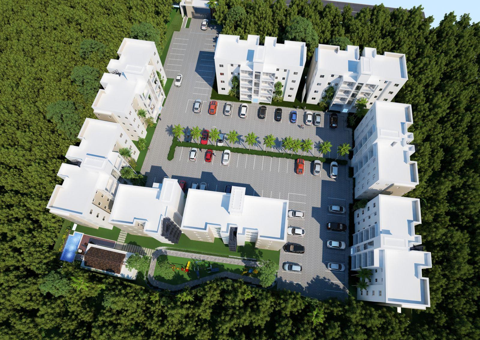 Es un complejo habilitación de 60 apartamentos caracterizado por su diseño moderno.