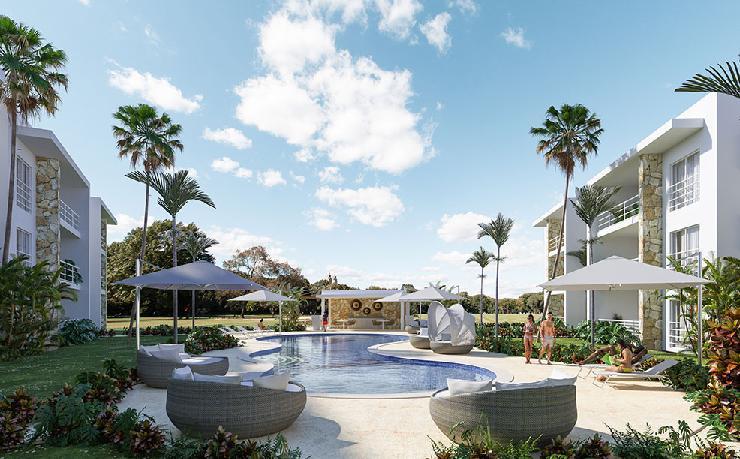 Modernos Apartamentos en Venta de 2 Dormitorios en Playa Nueva Romana